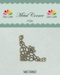 Dixi Craft Metal Corner 35x35 mm goud - MC0002