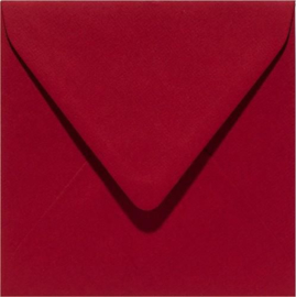 Papicolor Envelop vierk. 14cm kerstrood 105gr-CV 6 st 303943 - 140x140 mm