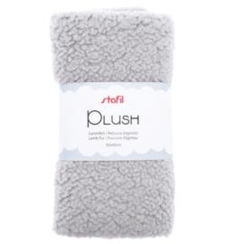 240016-05 - Plush, lamsvel licht grijs, 100% polyester