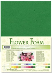 LeCrea - 10 Flower Foam sheets A4 mosgroen 25.4322 0.8mm
