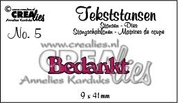 Crealies tekststans - Bedankt (NL) CLTS05 / 9x41 mm