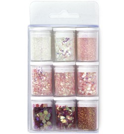 Glitter Set - Pink, assorted