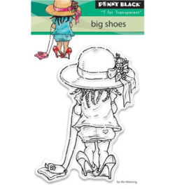 Penny Black Transparent Stamp - Big shoes