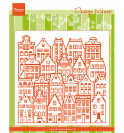 Marianne D Embossing DF3458 - Dutch houses