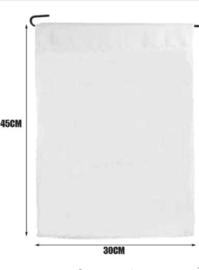 Vlag voor sublimatie 30x45 cm