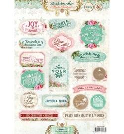 Labels Winter Christmas Shabby Cic nr.449