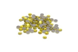 Rhinestones Citrine met heat transfer backing 5 mm