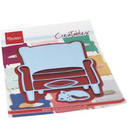 Marianne D Creatables LR0688 - Creatable - Armchair & kitten
