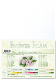 LeCrea - 10 Flower Foam sheets A4 wit 25.4117 0.8mm
