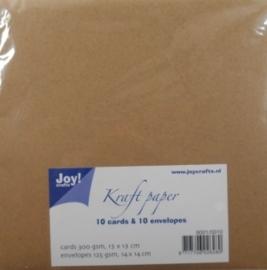 Kraft paper kaart + enveloppen
