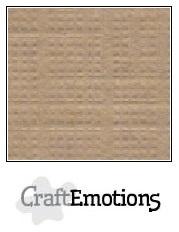 CraftEmotions linnenkarton - kaki LHC-77 A4 250gr