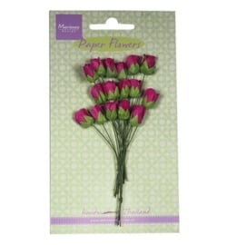 Marianne Design - Paper Flowers - Roses bud - medium pink