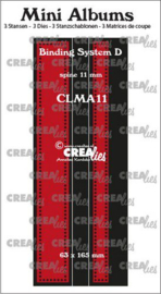 Crealies stans Mini Albums Bindsysteem D CLMA11 63x165 mm