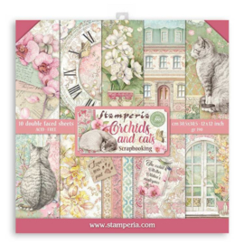 Stamperia Orchids and Cats 12x12 Inch Paper Pack (SBBL81)