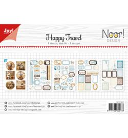 Noor!Design - 6011/0411 - Labelvellen/knipvel - Noor - Happy Travel