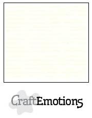 CraftEmotions linnenkarton gebroken wit 30,5x30,5cm