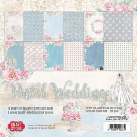 Craft&You Pastel Wedding Big Paper Set 12x12 12 vel