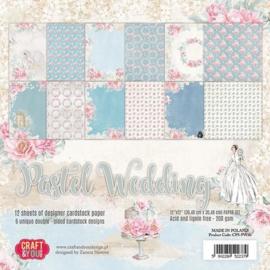 Craft&You Pastel Wedding Big Paper Set 12x12 12 vel