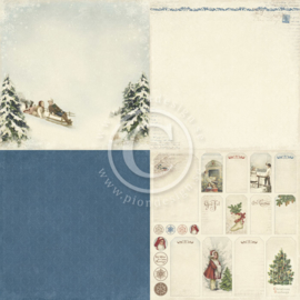 Pion Design - Winter in Swedish Lapland - Sleigh Ride - 12x12 (4x 6x6)
