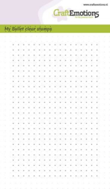 CraftEmotions clearstamps A6 - Bullet Journal -bullet dots