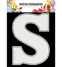 Dutch Doobadoo - 470713753 - Card Art Chocolade letter 'S'