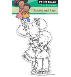 Penny Black Transparent Stamp - Andrea and raul