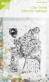 silhouette stamp hydrangea