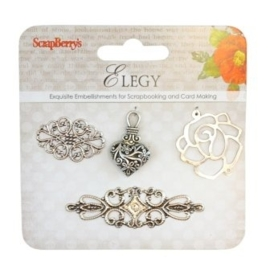 ScrapBerry's Metal Charms Set Elegy 2 (SCB25002030)