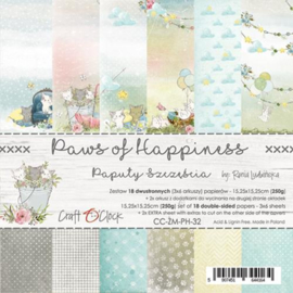 "Paper Collection Set 6""*6"" Paws of Happiness, 250 gsm"