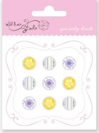 Wild Rose Studio - Specialty Brads Floral 9 ST