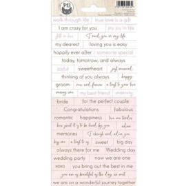 Piatek13 - Sticker sheet Always and forever 01 P13-ALW-11 10,5x23cm