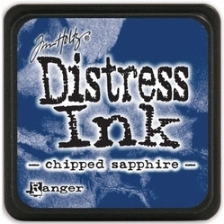 Tim Holtz distress mini ink chipped sapphire