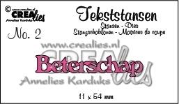 Crealies tekststans - Beterschap (NL) CLTS02 / 11 x 54 mm