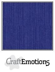 CraftEmotions linnenkarton saffierblauw 30,5x30,5cm