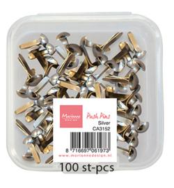 Marianne D CA3152 - Push Pins - Silver