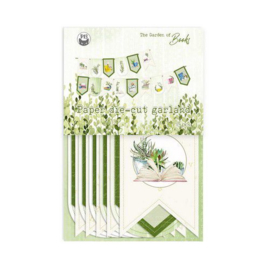 Piatek13 - Paper die cut garland Garden of Books P13-GAR-32