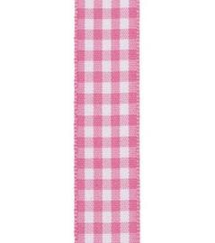 Vivant Lint Small check fijn geruit roze - 15MM - per meter