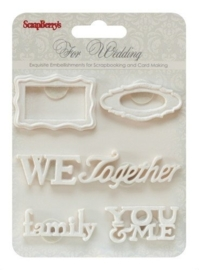 ScrapBerry's Set Of Polymer Items Wedding 2 (SCB26001019)