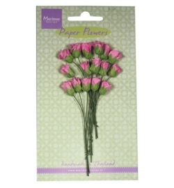 Marianne Design - Paper Flowers - Roses bud - bright pink