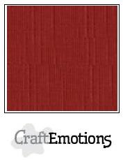CraftEmotions linnenkarton - donkerrood LHC-39 A4 250gr
