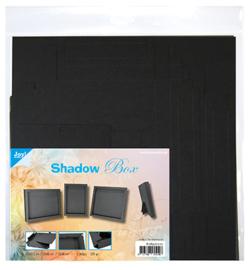 Joy! Crafts - 8089/0272 - Shadow Box 3 maten - zwart