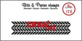 Crealies Clearstamp Bits & Pieces zigzag (langwerpig) CLBP172 16 x 73mm