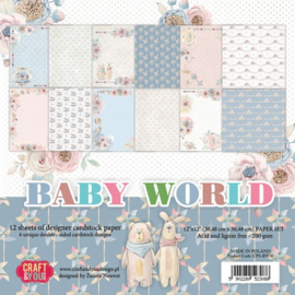 Craft&You Baby World big paper set 12x12 12 vel CPS-BW30