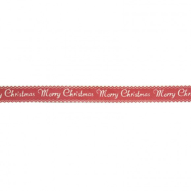 Ribbon 15mm ENG merry christmas  - per meter