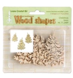 Wood shapes - Christmas Trees