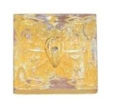 WD Carved Hook 12x12x1,5 - geel (kapstok / wandhaak)