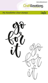 CraftEmotions clearstamps A6 - handletter - go for it (Eng)