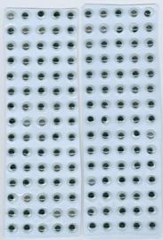 Wiebelogen zelfklev. rond zwart wit 6 mm 150 ST