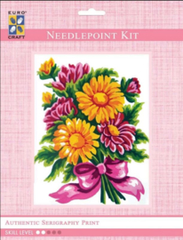 Eurocraft NEEDLEPOINT KIT 14x18cm - 3283K - Daisy Bouquet