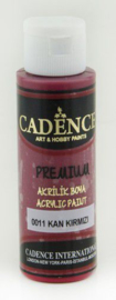 Cadence Premium acrylverf (semi mat) Bloed rood 01 003 0011 0070 70 ml